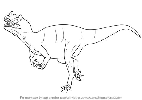 step by step how to draw a ceratosaurus