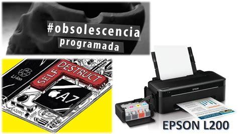 reset epson l200 programa reset do contador da espuma de impress 227 o da epson l200