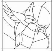Stained Glass PatternHummingbird  Painting On