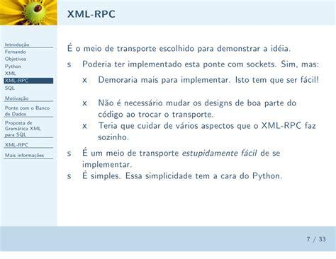 xml rpc xml rpc python banco de dados fernando massen