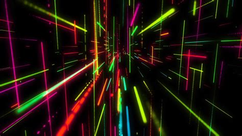 Motion Graphics VJ Colorful Neon Light Dance VideoHive