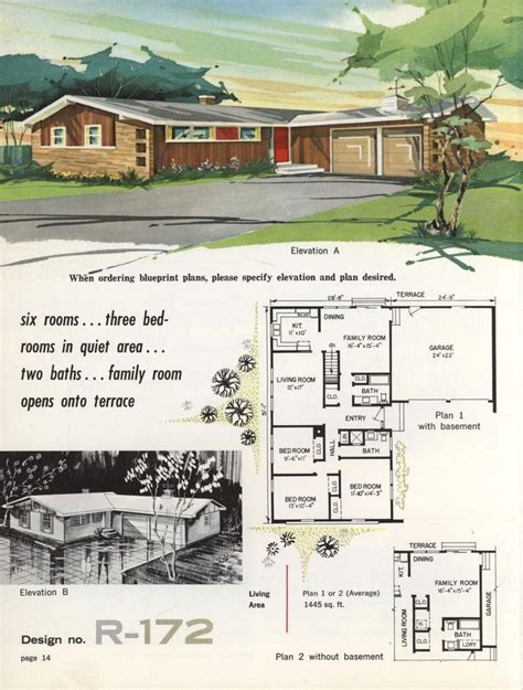 1960s ranch house plans 220 best images about vintage house plans 1960s on