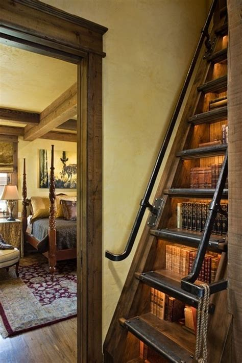 staircase bookshelf home ideas