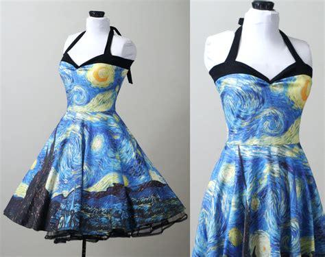 Handmade Apparel - starry gogh swing dress custom smarmyclothes