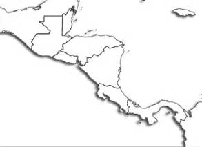 blank outline map of mexico and central america