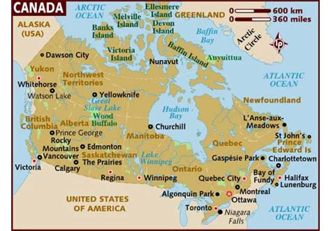 tourist map of canada top 10 places of the world top 10 places of canada