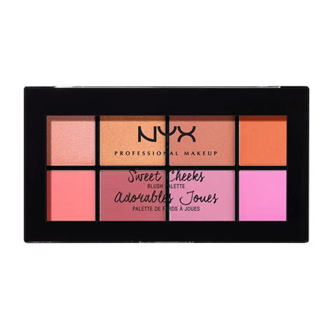 Nyx Make Up Palette Eye Shadow Lipstick Blush On Foundation Palet sweet cheeks blush palette nyx professional makeup