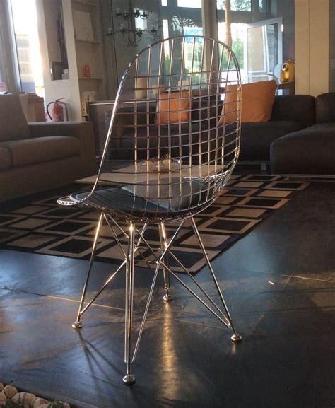 sedie acciaio e pelle sedia eames design in acciaio cromato lucido e cuscinetto