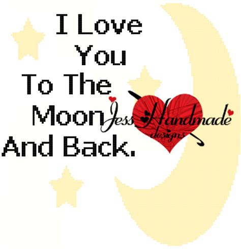 i love you to the moon and back tattoo free graph crochet patterns jess handmade designs
