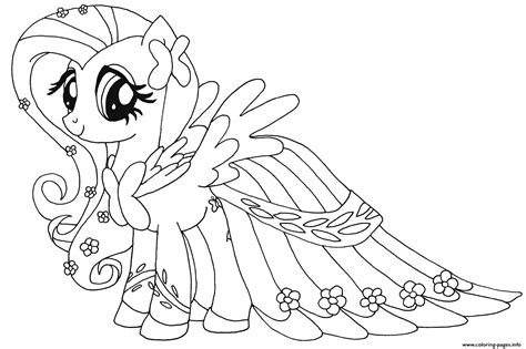 Fluttershy My Little Pony Coloring Pages Printable Painting Pages
