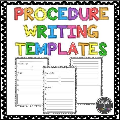 17 best ideas about procedure writing on pinterest