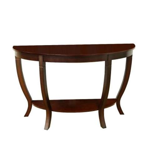 Megahome Lewis Wood Sofa Table Mh155 The Home Depot
