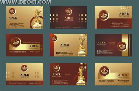 business card templates cdr format creative business card template design gold plaid
