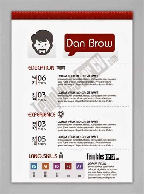 layout brosur menarik contoh cv format word free download template cv kreatif 30