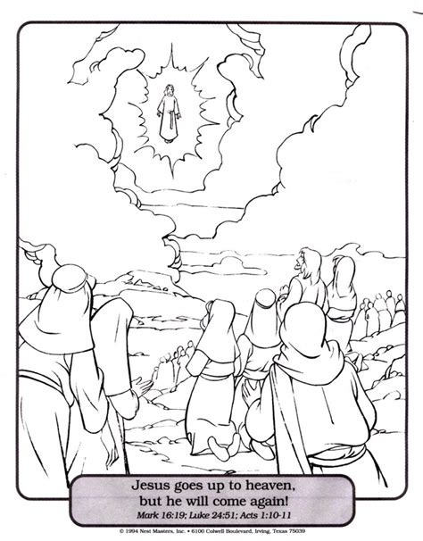 sunday school coloring pages jesus ascension 1000 images about wee college 5s on sunday