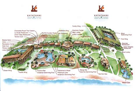 katathani resort map カタタニ katathani phuket resort