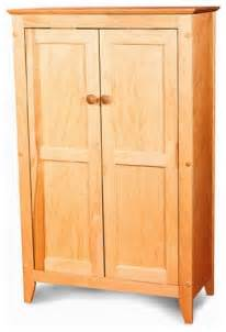 Wood Pantry Cabinet For Kitchen Catskill Jelly Cabinet With Flat Panel Wooden Doors