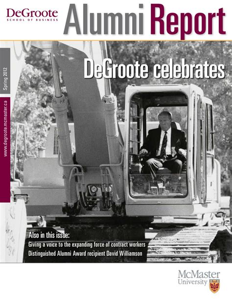 Degroote Mba Employment Report by Alumni Report 2012 By Degroote School Of Business