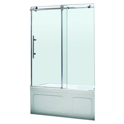 Lowes Bathroom Shower Doors Shop Dreamline Enigma X 59 In W X 62 In H Frameless Bathtub Door At Lowes Matt S Apartment