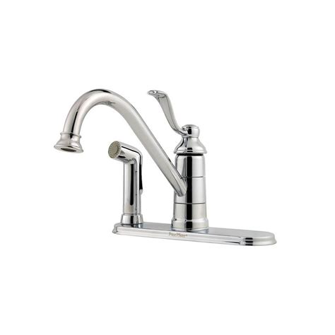 Kitchen Faucet Portland Oregon Pfister Portland Single Handle Standard Kitchen Faucet With Side Sprayer In Polished Chrome