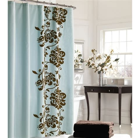 Blue And Brown Curtains And Drapes 1000 Ideas About Brown Shower Curtains On