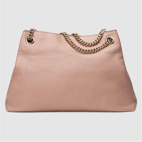 Garucci Shoulder Bag Abu Abu lyst gucci soho leather shoulder bag in pink