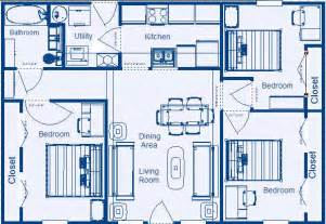 Simple Three Bedroom House Plan by Low Income Residential Floor Plans By Zero Energy Design 174