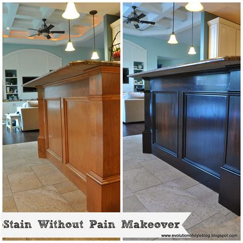 how to strip varnish from cabinets staining kitchen cabinets darker before and after pictures