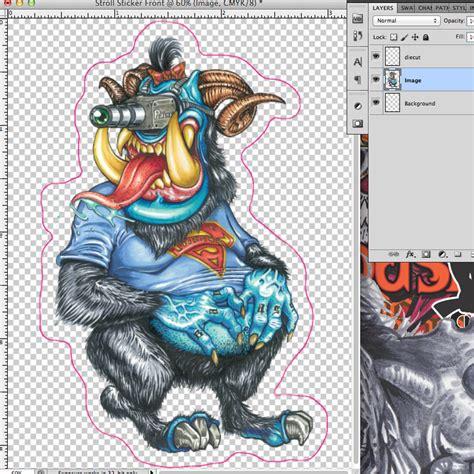 tutorial design sticker custom die cut sticker design sticker printing tutorial
