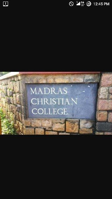 Madras Christian College Mba by How Is Madras Christian College For Other State Students