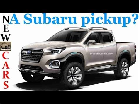 subaru concept truck new subaru viziv pickup truck youtube