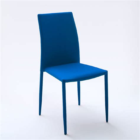 Blue Upholstered Dining Chairs Mila Upholstered Blue Dining Chair