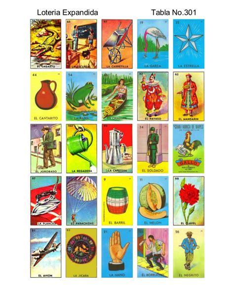 tablas de loteria mexicana para imprimir tablas de loteria mexicana para imprimir