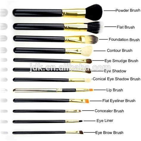 Brush Kit 12 In 1 Kualitas Premium Make Up Proffesional Salon world best selling products 12 pcs makeup brush set label wood handle make up brush kit