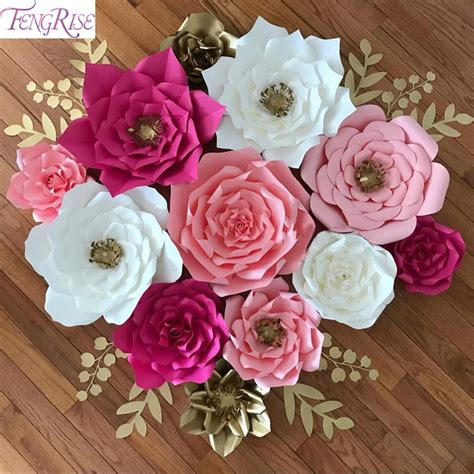 decorative paper roses fengrise 2pcs 20cm diy paper flowers backdrop decorative