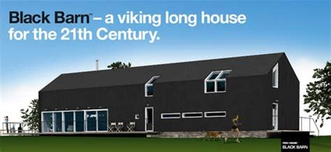 modern viking longhouse design prefabs modular house pinchouse black barn a modern viking prefab