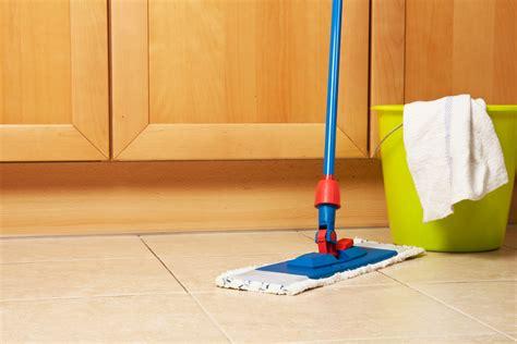 clean kitchen floors