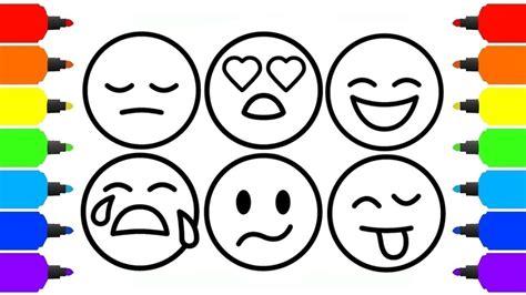 imagenes emoji para imprimir como colorir emoji smileys para beb 234 aprenda cores do arco