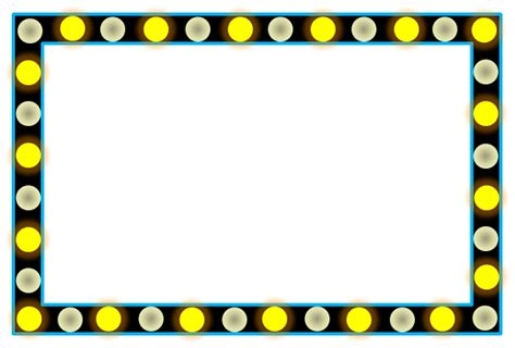 mirror with light border broadway lights border clip art 16