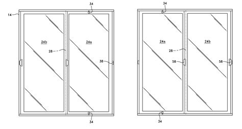 how to draw a sliding door in a floor plan patent us8336265 reversible sliding glass door google