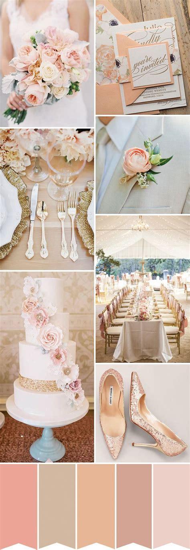 Peach Bellini   A Sparkling Peach and Gold Wedding Palette