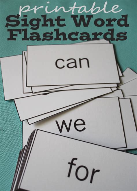 flash card maker for sight words free sight word printables