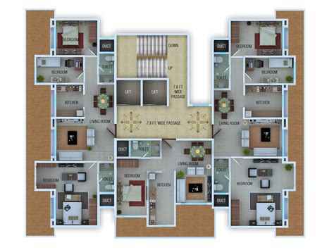 rendered floor plan rendered floor plans and isometric by atul kudchadker at