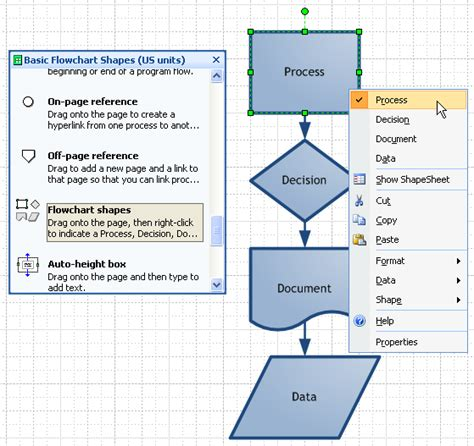 visio diagram shapes visio 2010 beta where is the toolbar with the shapes