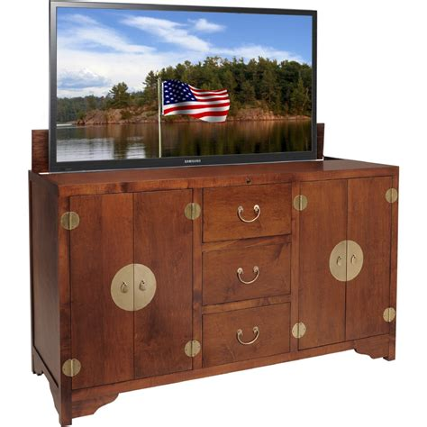 pop up tv cabinet tv lift cabinet at006468mich dynasty 68 quot hidden flat panel