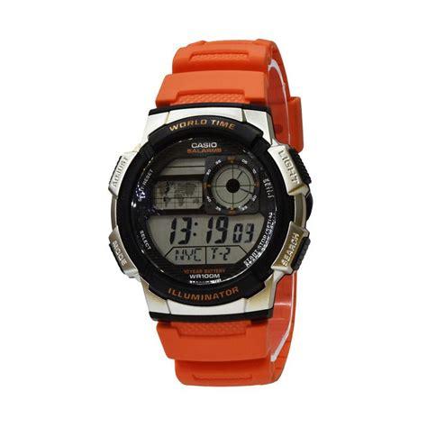 Casio Pria Ae 1000w 4bvdf Orange harga casio digital jam tangan pria oranye resin