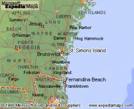 st simons island map bill gutelius location of st simons and the golden isles