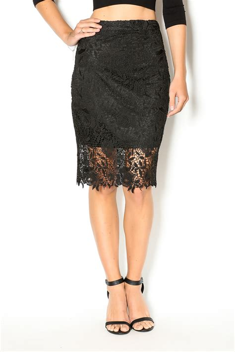 nikibiki lace pencil skirt from palm by glitz and