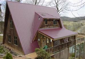 a frame house plans with loft roofing by mccallister residential metal roofing