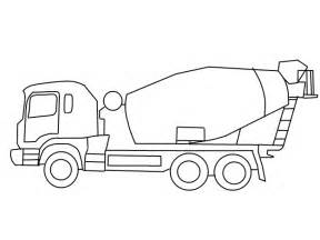 Cement Truck Coloring Pages Kids Jpg sketch template
